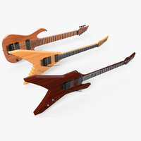 3D electric guitar set model