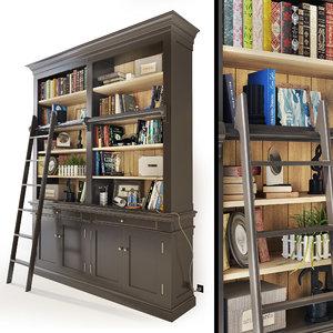 3D bookcase maisons du monde