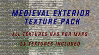 4k PBR 11 Pieces Medieval Exterrior Texture Pack