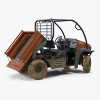 3D farmer 4x4 atv dirty model