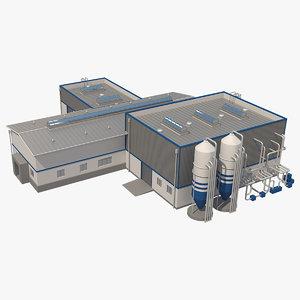 industrial building 3d 3ds