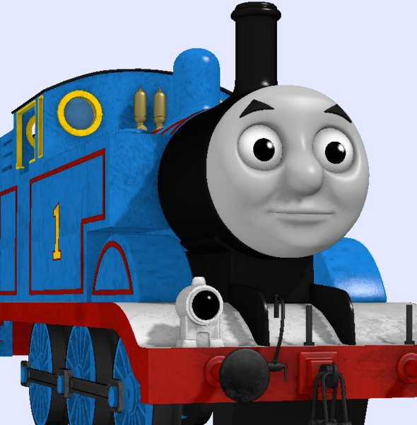 3D model thomas tank engine animation