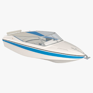 powerboat speedboat 3D model