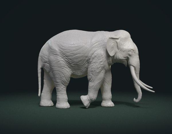 3D print ready elephant