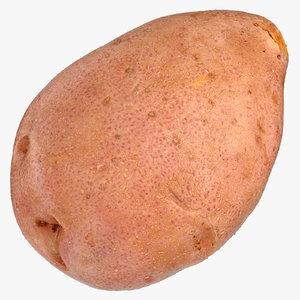3D model red potato 01