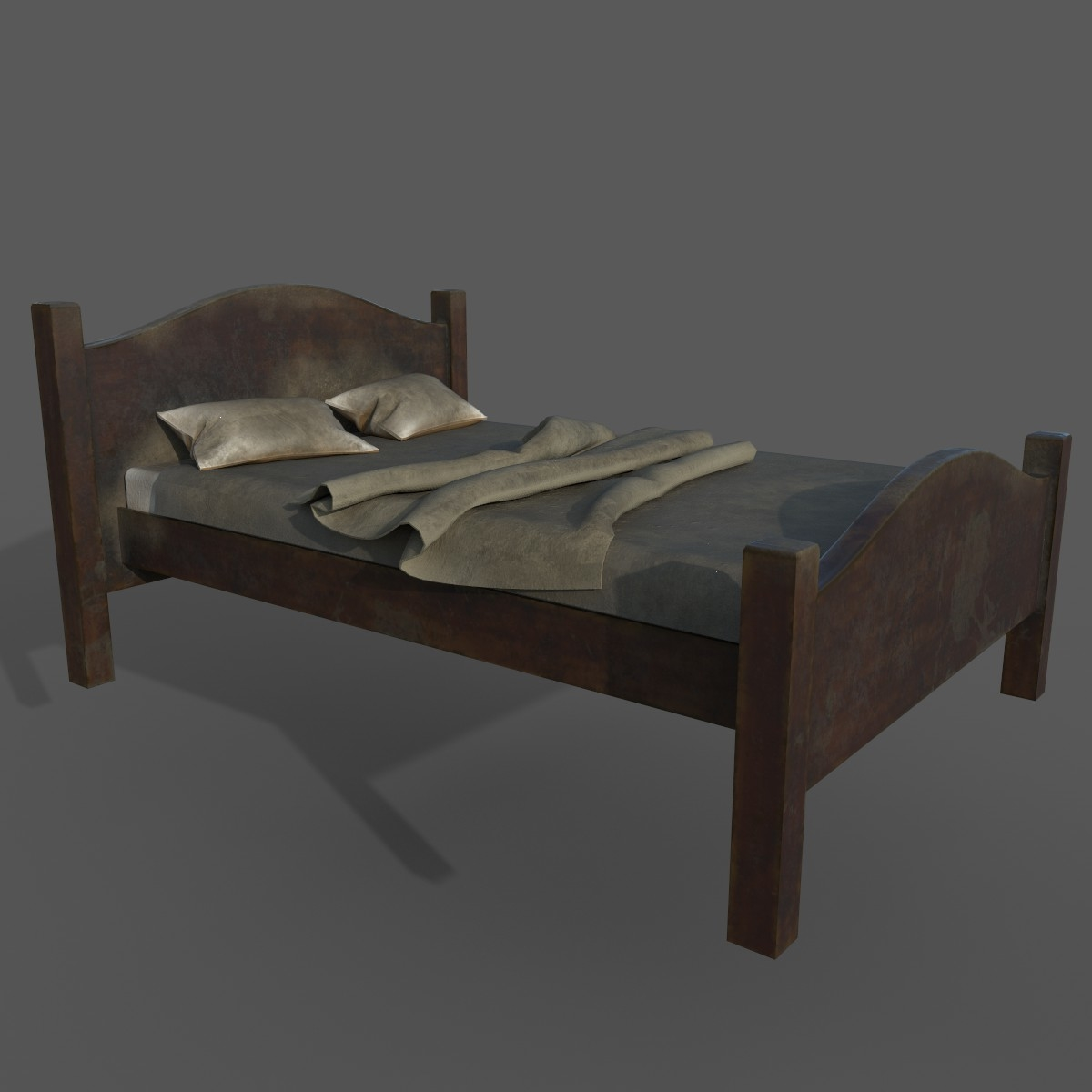 3D old dirty bed pillows - TurboSquid 1412086