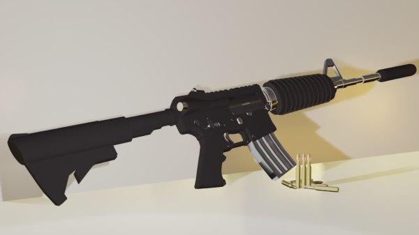 m4a1 gun 3D model