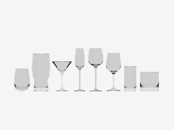 3D set glasses model