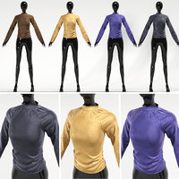Shirt 4 color with mannequin