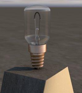 3D model e14 light bulb