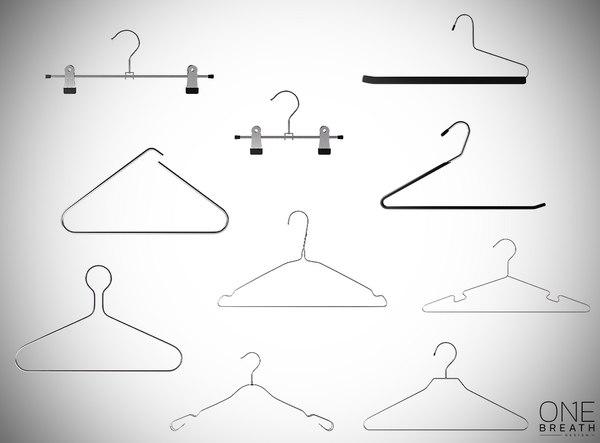 pack hangers shops 3D model