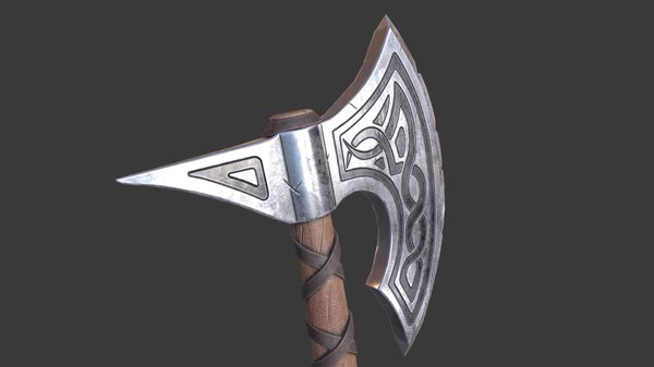3D viking axe