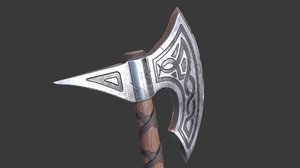 3D viking axe