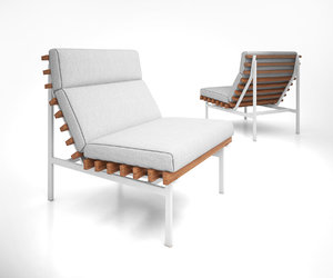3D model perch modern outdoor lounge chair