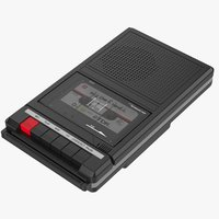 Black Cassette Player Recorder +Tape