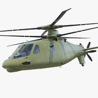 attack compound helicopter copter 3D model