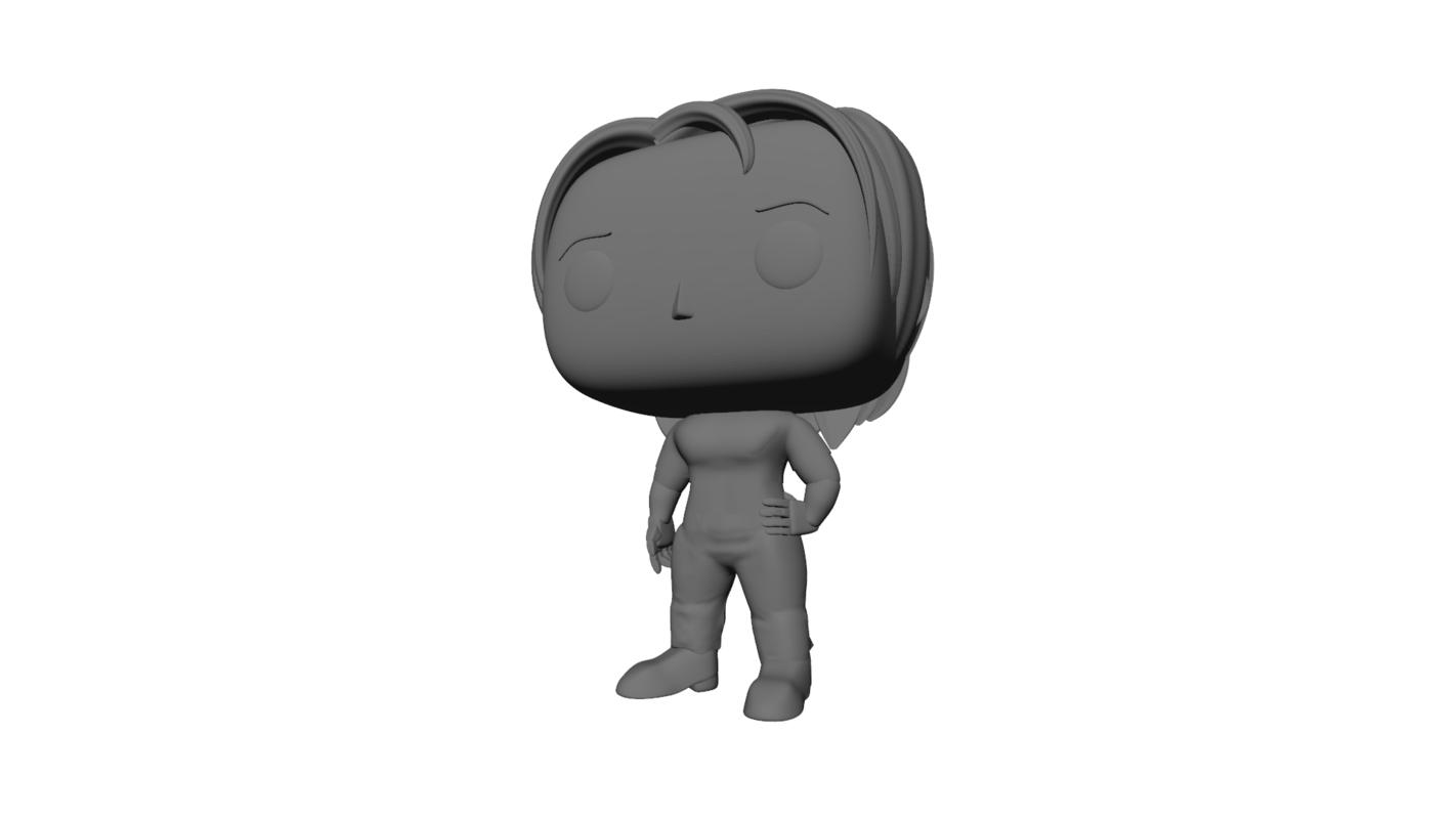 3D model pop custom woman