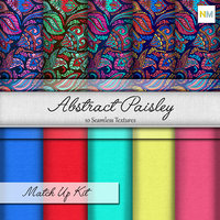 Abstract Paisley Seamless Fabric Textures
