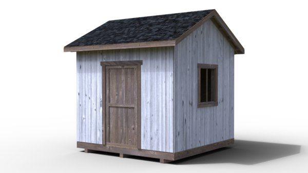 3D small shed destruction ready model