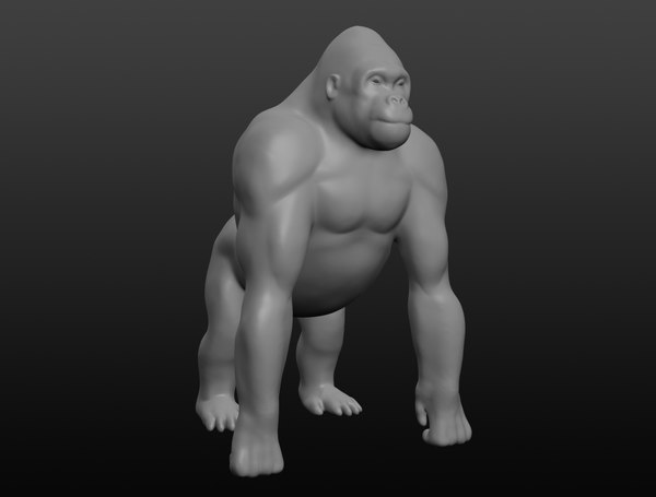 gorilla base mesh 3D