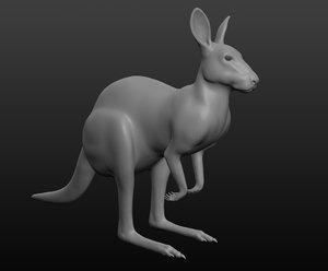 kangaroo base mesh 3D