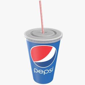 paper soda cup 3D