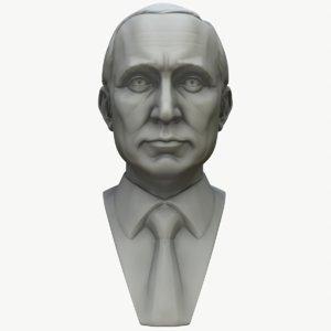 3D putin vladimir bust