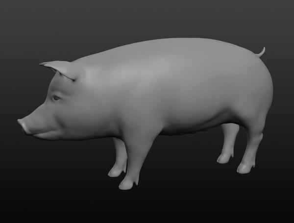 3D pig base mesh