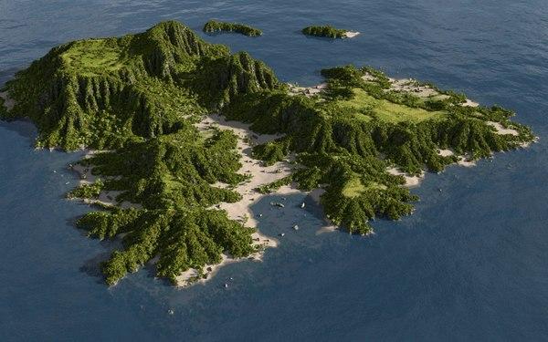 island blender 3D model