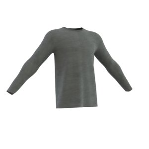 roundneck long sleeve t-shirt 3D model