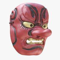 Japanese Mask Tengu Gigaku Noh