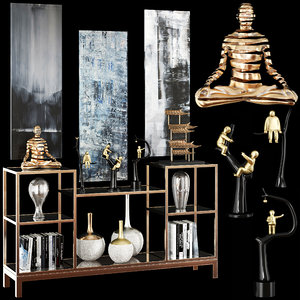 decorative set 48 3D model