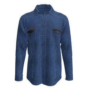 3D men denim shirt model