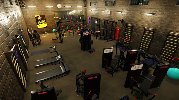 3D model fitness gym