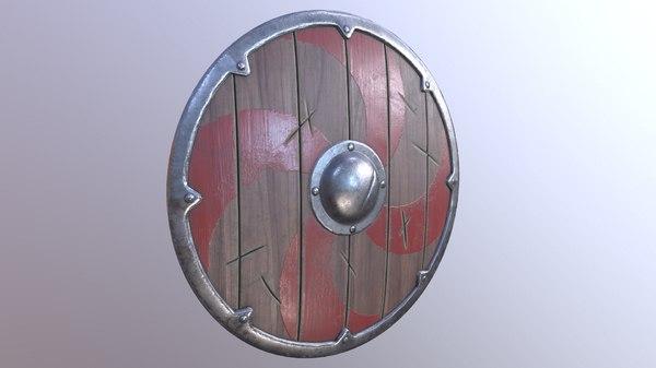 3D model viking shield