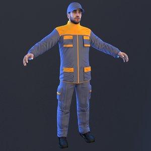 3D mechanic man