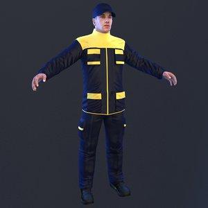 3D mechanic man model
