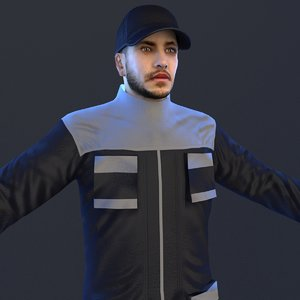 3D model mechanic man