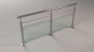 3D steel railing