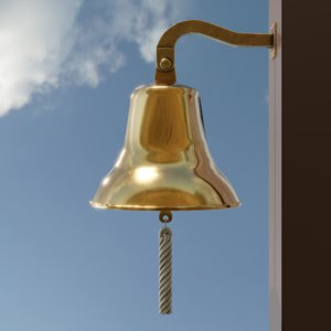 3D nautical ship bell