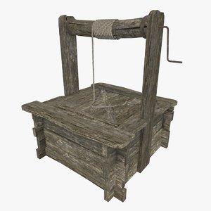 3D old wooden model