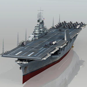 3D uss intrepid cv-11 cv model
