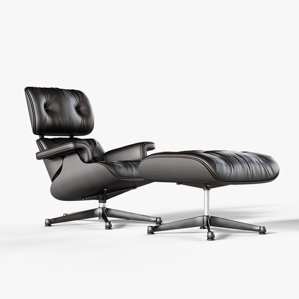 black eames vitra lounge chair 3D model