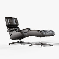 Black Eames Vitra Lounge Chair 1956