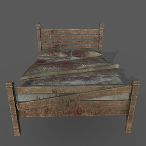 old dirty bed pillows 3D model