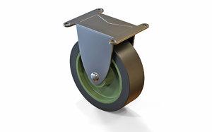 3D caster wheel model