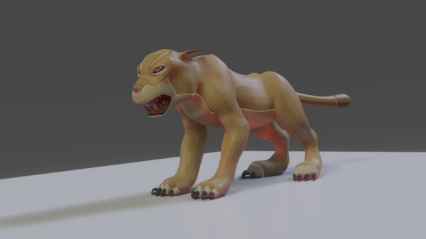 rigged lego lion animators model