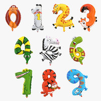 balloon numbers 3D