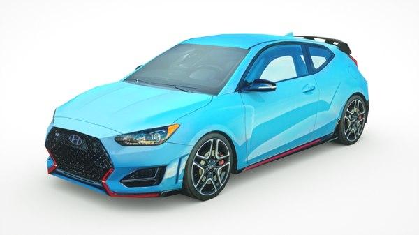 3D model hyundai veloster n 2019