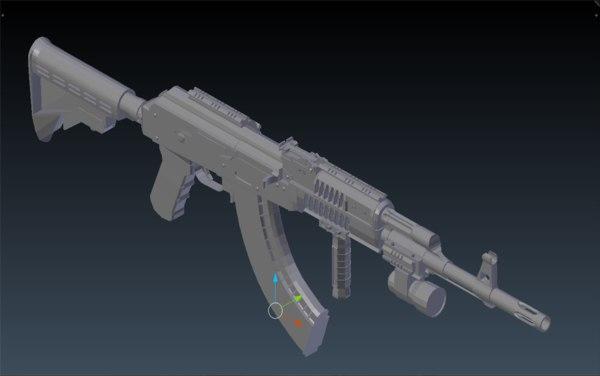 ak47 3D model